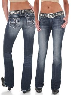 Ultra Low Rise Jeans Women | Wrangler Women's Rock 47 Ultra Low Rise Jeans Perfect Poison WHN34