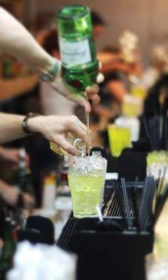 Tokyo Iced Tea ~ Glass: Highball, Method: Shake & Strain, Ice: Cubed, Ingredients: 1/2oz Vodka, 1/2oz Light Rum, 1/2oz Gin, 1/2oz Tequila, 1/2oz Midori, 3/4oz Fresh Lemon Juice, 1/2oz Sugar Syrup, Top with Sprite/Lemonade