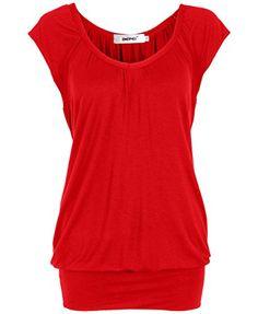 Bepei® Women Hip Length V Neck Top Solid Short Sleeve T Shirt Tunic Blouse Red M BEPEI http://www.amazon.com/dp/B0107NWTH6/ref=cm_sw_r_pi_dp_SFVfxb0YWKZW4