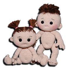 #crochet, free pattern, amigurumi, baby, doll, stuffed toy, #haken, gratis patroon (Engels), pop, baby jongen, meisje, knuffel, speelgoed, #haakpatroon, Zhaya.de, meer gratis patronen ook Nederlands op de site