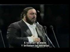 Luciano Pavarotti - E lucevan le stelle de Tosca de Puccini (subtítulos español e italiano) - YouTube