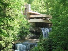 Falling Water, An Absolute Masterpiece! Architecture Images, Historical Architecture, Frank Lloyd Wright, Small Farm, Country Living, Perfect Place, Waterfall, Building, Places