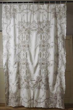 アンティーク マルチ刺繍カバー  French Vintage Embroidery Cover