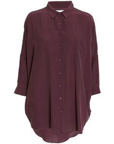 Lang silke skjorte i efterårets modefarve - ja tak! #Kokoon