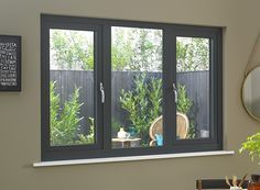 Status/Supreme Grey Triple Window x French Casement Windows, Grey Windows, Upvc Windows, Interior Windows, House Windows, Windows And Doors, Sash Windows, House Window Design, Home Organization Tips