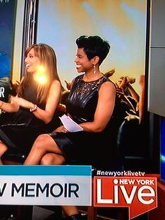 Jacque Reid looks fabulous wearing out Vita dress on New York Live today!
