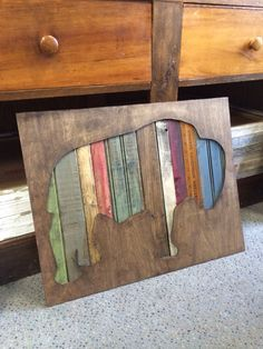 Bison+Wall+Decor+by+CrookedHaloDesign+on+Etsy,+$89.00