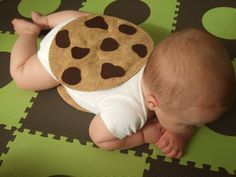 PDF Sewing Pattern Felt Chocolate Chip Cookie Chipwich Infant Halloween Costume. $2.99, via Etsy.