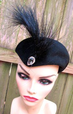023f74a4329 vintage horsehair hat - 1930s-40s Bonne Qualite  Italian black hat