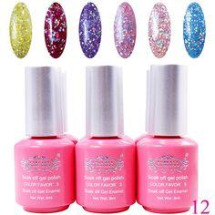 Perfectsummer 6pcs Mixed Color UV Gel Polish Soak Off Nail Art 8ml/pc * Want additional info? Click on the image.