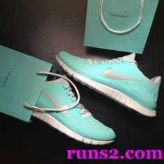#tiffany #blue #nikes, I don't own a pair of tennis shoes but I would actually wear these