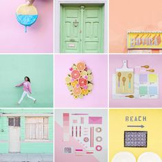 Visually appealing yet colorful feed can catch viewers' attention very easily (who doesn't love pastel colors? Instagram Feed Layout, Instagram Grid, Instagram Design, Instagram Shop, Instagram Accounts, Pastel Feed, Instagram Marketing, Pastel Designs, Damier