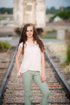 Love trains and train track. Remember, going on train tracks is usually illegal, dangerous, and trespassing. These tracks are in Depot Square park in the city and are legal to be on. photo by: Keepsake Images Studio
