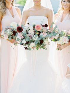 Bridesmaids' Dresses: Jenny Yoo - http://www.jennyyoo.com Reception Venue: Sanctuary on Camelback - http://www.stylemepretty.com/portfolio/sanctuary-on-camelback Gown: Vera Wang - http://www.verawang.com/   Read More on SMP: http://www.stylemepretty.com/2017/01/16/desert-sunset-wedding/