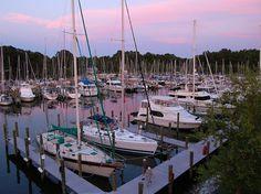 In the slip at sunset...Herrington Harbor