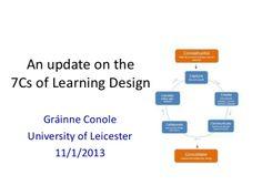 7 cs update by Grainne Conole via slideshare