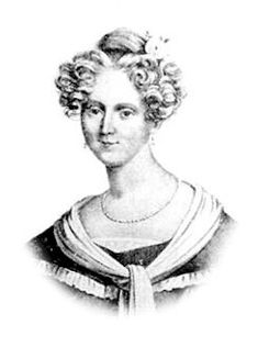 Marie Mélanie d'Hervilly Gohier Hahnemann (2 February 1800 – May 1878), was the first female homeopath physician, married in 1835 to Samuel Hahnemann. During the cholera epidemic of Paris in 1832, she became interested in homeopathy. In 1834, she visited Samuel Hahnemann, and the year after they married and moved to Paris. She was a controversial person, being both a woman physician and a woman homeopath.[2] She is buried in the Père Lachaise Cemetery.