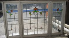 Federation (?) leadlight window frame #windows #architecture