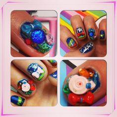 CHARM IT! HQ sugar rush alert! Check out Carly's candy & bow themed mani… so sweet! #nails