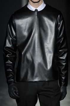 Nothing says European hitman like this Jil Sander leather pullover.