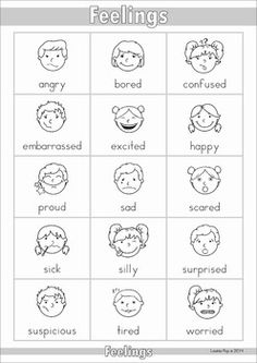 My Dictionary {color and black & white}. An A-Z and thematic vocabulary dictionary that can be used as a personal dictionary for each student or in the writing center! A page from the unit: Feelings