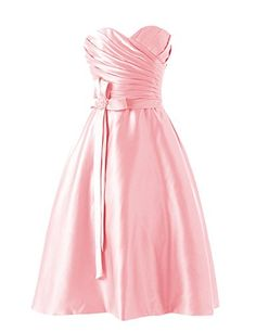 Diyouth Sweetheart Aline Short Satin Bridesmaid Dress Pink Size 8 >>> Learn more by visiting the image link. Satin Bridesmaid Dresses, Summer Dresses, Formal Dresses, A Line Shorts, Backless, Purple, Store, Shopping, Clothes