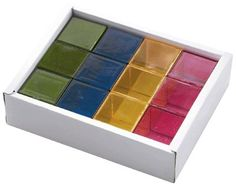 Cubes translucides - Coffret de 16
