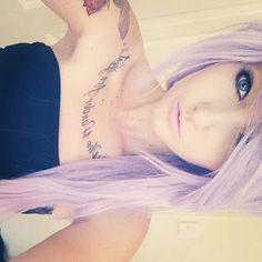 Love this purple hair Emo Scene Hair, Emo Hair, Pastel Hair, Purple Hair, Pastel Purple, Ombre Hair, Light Purple, Lavender Hair, Lavender Color