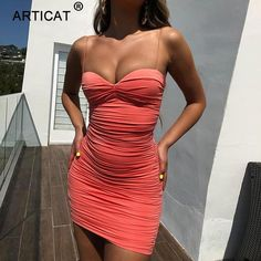 Spaghetti Strap Ruched Sexy Summer Dress Women Off Shoulder Strapless Backless Bodycon Mini Dress Pleated Party Dress Backless Mini Dress, Ruched Dress, Bodycon Dress, Mini Vestidos, Vestidos Vintage, Sexy Summer Dresses, Cheap Dresses, Plus Size Fashion Dresses, Dress To Impress