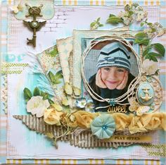 "Scrapbook page made by Websters Pages design team member Gabrielle Pollacco using NEW collection called ""New Beginnings"""