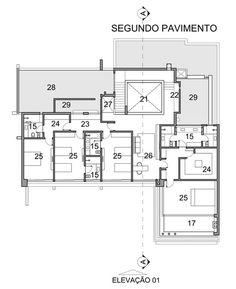 Casa Pitangueira,Planta - Pavimento Superior