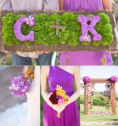 Orchid Wedding Ideas - love how it has our initials and colors!