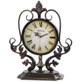"Found it at Wayfair - 12.8"" x 11.2"" Metal Decor Tabletop Clock"