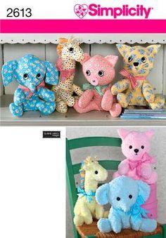 Stuffed Animal Sewing Pattern 2613 Simplicity