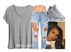 """""""oct. 26"""" by princess-kia54321 ❤ liked on Polyvore featuring NIKE, Gap and Machine"""