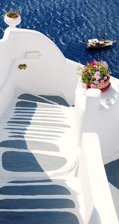 Caldera steps, Oia, Santorini , Greece