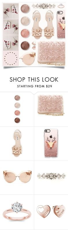 """Winter Rose"" by racanoki ❤ liked on Polyvore featuring Terre Mère, Oscar de la Renta, Miu Miu, Casetify, Linda Farrow, Dolce&Gabbana, GUESS and RaCaNoKi"