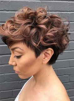 Short Hairstyles for Women: Grown-Out Curly Pixie