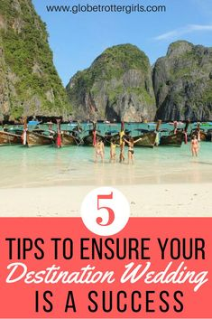 Five Tips to Ensure Your Destination Wedding is a Success. Destination weddings are becoming more and more popular – and it's easy to see why. Getting married at home usually means you have to spend tens of thousands of dollars on a lavish wedding,  while choosing to have a destination wedding means you can escape most of the stress and pressure of a traditional wedding. Click through to read my five tips to ensure your destination wedding is a success. | Globetrotter Girls…