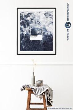 Blue Aesthetics Pantone Color Wall Art Poster #Pantone #PantoneBlue #PantoneArt Pantone Blue, Pantone Color, Bedroom Posters, Bedroom Art, Zen Room, Indigo Colour, Wave Art, Poster Colour, Blue Aesthetic