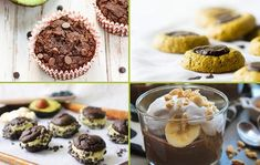 Avocados aren't just for guacamole and avocado toast. You can go beyond savory recipes and feature the nutrient-packed fruit in sweet treats, too. Healthy Baking, Healthy Snacks, Dessert Healthy, Just Desserts, Dessert Recipes, Yummy Recipes, Best Avocado Recipes, Good Food, Yummy Food