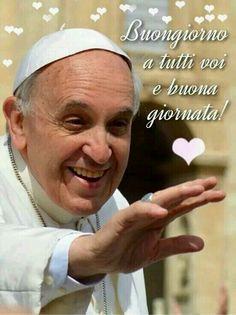 Buongiorno da Papa Francesco Pope Francis, New Years Eve Party, Improve Yourself, San Giovanni, Terra, Smiley, Women's Fashion, Fashion Women, Emoticon