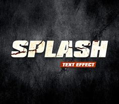 Free designs - Splash text effect