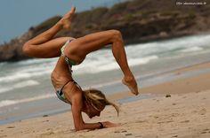 """Yoga on the beach #1"" by Ofir Abramovitch"