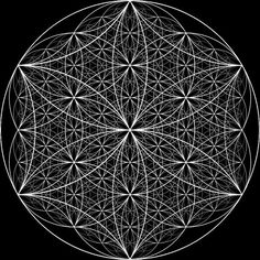 The question is not what you look at, but what you see. ~ Thoreau #FlowerOfLife #layers