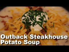 Outback Baked Potatoes, Loaded Baked Potato Soup, Crock Pot Soup, Pasta, Chicken Soup Recipes, Restaurant Recipes, Cooking Recipes, Outback Steakhouse Recipes, Soups