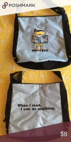 Book bag Vintage library book bag, by Mervyn's department store. Used but still hitting the books! Bags Totes