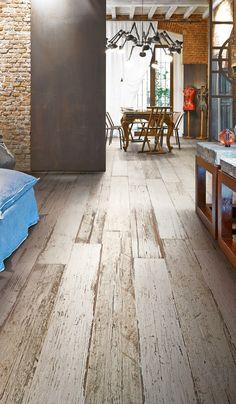 "Shabby look for your home. High quality tiles in bright shabby wood look. Tile wood look vintage white-beige ""Blendart Natural"" by fliesenprofilucasgmbh Wood Effect Tiles, Wood Tile Floors, Wood Look Tile, Wood Planks, Plank Flooring, Design Parquet, Porcelain Wood Tile, Mandarin Stone, Italian Tiles"