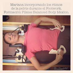 """@inspirahpilates's photo: """"Mariana incorporando los ritmos de la pelvis durante el Footwork en nuestra Formación #Pilates Balanced Body www.inspirahpilates.com"""""""