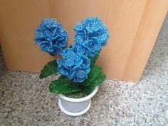 Hortensie aus Glasperlen. Teil 1/2. Beaded flowers. Beads - YouTube